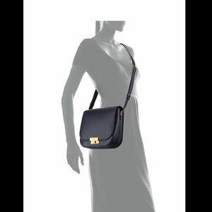 Saint Laurent Flap Crossbody Handbag With Lock